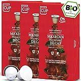 BIO Kaffeekapseln von My-CoffeeCup | Kompatibel mit Nespresso*-Maschinen | 100% kompostierbare Kapseln ohne Alu (Mexican Maya Gold Decaf, 30 Kapseln)