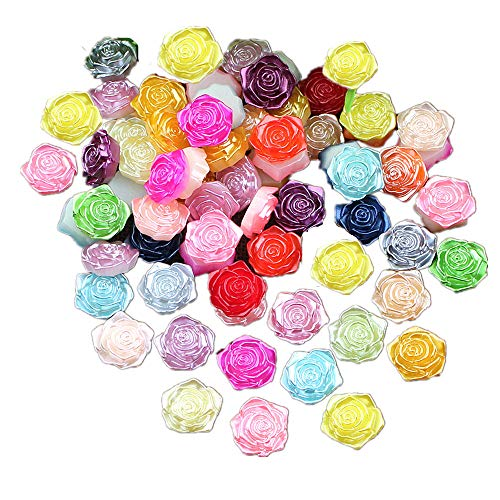 Lot de 100 perles en résine ABS pour loisirs créatifs, accessoires de scrapbooking, coque de téléphone, décoration de perles, perles en vrac, bricolage