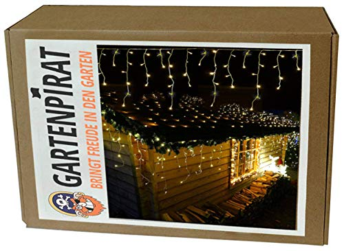Luces navidad,cortina LED intermitente, 12 m, exterior