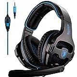 SADES SA819 Gaming Headset Noise Cancelling Spiel Kopfhörer für Xbox One/PC / PS4 / Xbox eins/Laptop / Computer/iPad und Smartphone. (Blau)