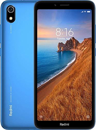 Xiaomi Redmi 7A Smartphone, 2GB RAM 16GB ROM Dual SIM 5.45 \'\' Pantalla Completa, Qualcomm Snapdragon  SDM439 Octa-Core Procesador,Fuente Grande, Cámara Trasera de 13MP Cámara Frontal de 5MP (Azul)