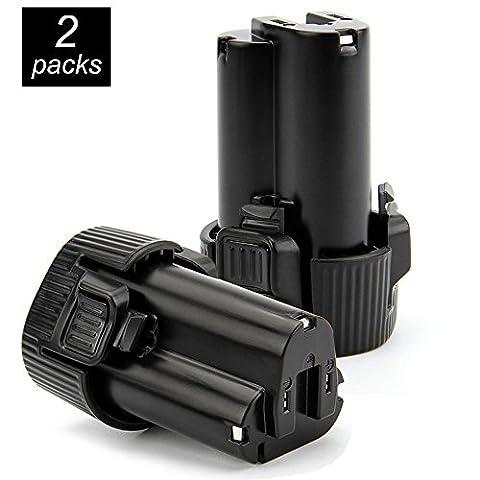 2 Stück Für Makita Akku 10.8V 2.0Ah Li-ion Ersatzakku Werkzeug Akku Batterie für makita BL1013 BL1014 194550-6