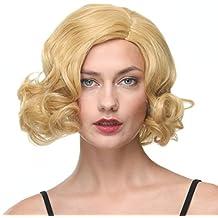 Corto ondulado BOB pelucas parte lateral Popular estilo Gold Color Platinum peluca para mujeres 12 pulgadas