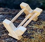 Futtertrog geschnitzt Holz Tier Krippe Dekoration Massiv Handarbeit Bauerntier Wald