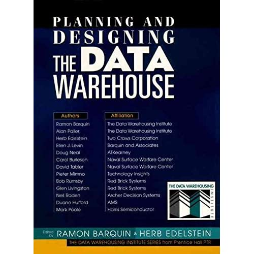 [(Planning and Designing the Data Warehouse)] [Edited by Ramon C. Barquin ] published on (July, 1996)