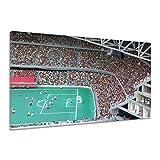 Lego Fußball Spielfeld Tribüne Figuren Tor Leinwand Poster Druck Bild aa0581 60x40