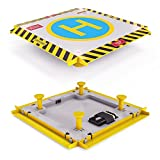 Remote Control Helicopter Landing Pad - LED Lights Installed - Suitable For RC Helicopters, Quadcopters, Drones, Syma Helicopters