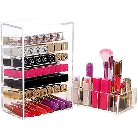 XL® Caso trucco acrilico organizzatore cosmetico cassetto rossetto bagagli Porta inserti scatola portaccessori un Levres C162