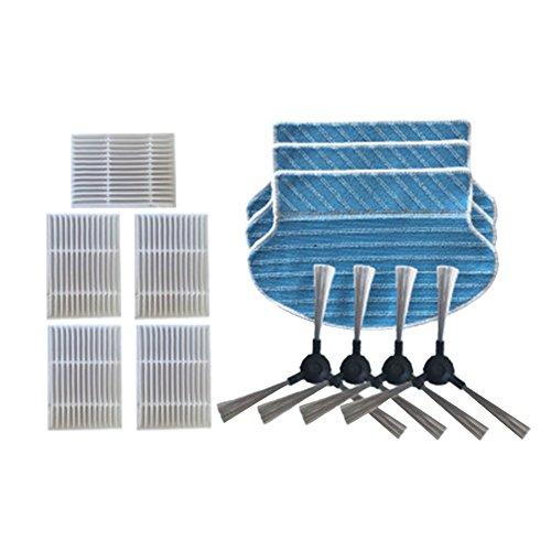 Xingsiyue Robots Aspirateurs Remplacement Kit pour Proscenic P1 P2 P3 MC70-5*Filtre HEPA+3*Chiffons de Nettoyage+4*Brosse latérale Aspirateur Accessoires