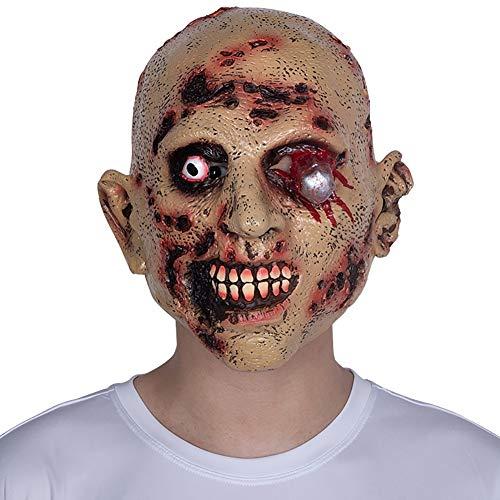 Story of life Halloween Adult Terror Maske Furchterregende Latex Kopf Bedeckung Erschreckt Resident Evil Zombie Performance Requisiten (Keine Furchterregende Kostüm)