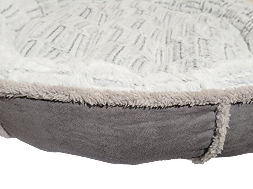 Rosewood-Soft-Luxurious-And-Comfortable-Cat-Dog-Donut-Bed-With-Anti-Slip-Base-51Cm-Grey