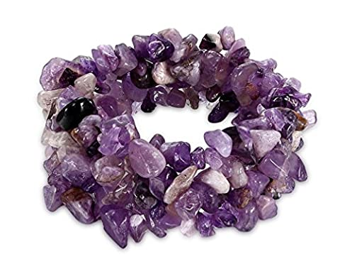Amethyst/Turquoise/Rock Crystal Bracelet Quartz Healing Chakra Crushed Gemstone Chips Chunky Stretch Strand