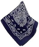 Nickituch marine | Kopftuch im typischen Bandana-Design aus 100% Baumwolle | 53 x 53 cm | Halstuch | Teichmann
