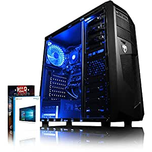 VIBOX Gaming PC - Precision 6XW - 4.0GHz AMD FX 4-Core CPU, GT 710 GPU, Budget, Family, Multimedia, Home & Office, Desktop Computer with Game Bundle, Windows 10 OS, Blue Internal Lighting and Lifetime Warranty* (Super Fast AMD FX 4300 Quad 4-Core CPU Processor, Nvidia GeForce GT 710 1GB Dedicated Graphics Card GPU, 8GB DDR3 1600MHz High Speed RAM Memory, 2TB (2000GB) Sata III 7200rpm Hard Drive HDD, 85+ Rated PSU Power Supply, AvP Mamba Micro ATX Gaming Case, AM3+ Motherboard, Blue LED Fan)