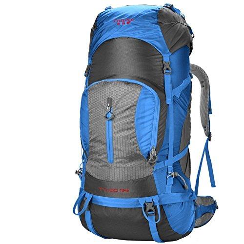 Sincere® Package / Sacs à dos / Portable / Ultraléger Outdoor sac d'escalade / sac Voyage épaules / 80L tactique / camping en plein air randonnée sac à dos bleu 80L