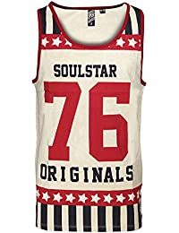 SoulStar - Débardeur - Homme rouge Red