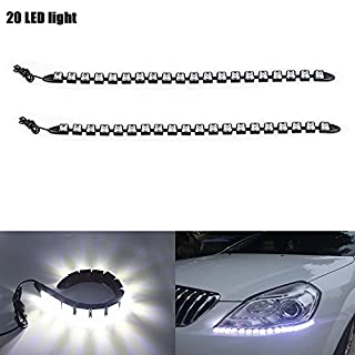 AutoBoy 2 PCS Flexible Weiß 20LED Strip Streifen Tagfahrlicht Nebel Lampe Beleuchtung Wasserdicht