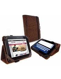 Tuff-Luv Type-View Étui housse Clean-Pad (inc Fonction Sleep) pour Kindle Fire HD / Nook 7 HD: Chanvre Naturel - Marron