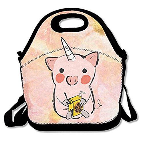 Zmvise être Licorne Majestic Pig Lunch Tote isotherme réutilisable Sac de pique-nique Lunch Box pour hommes femmes adultes enfants Toddler infirmières