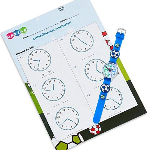 HAPIDS Lernuhr | Zeiger Armbanduhr Kinderuhr | Uhr zum Uhrzeit lesen ...
