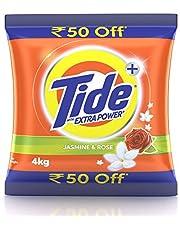 Tide Plus Extra Power Detergent Washing Powder - 4 kg (Jasmine and Rose)