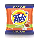 #9: Tide Plus Extra Power Detergent Washing Powder - 4 kg (Jasmine and Rose, Rupees 50 Off)