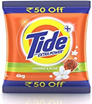 Tide Plus Extra Power Detergent Washing Powder - 4 kg (Jasmine and Rose)