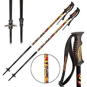 ATTRAC Skistöcke inkl. Schneeteller I Skistock Aluminium in verschiedenen Längen I Aluminiumschaft 18 mm