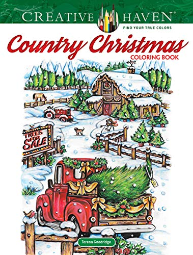 Creative Haven Country Christmas Coloring Book (Creative Haven Coloring Books)