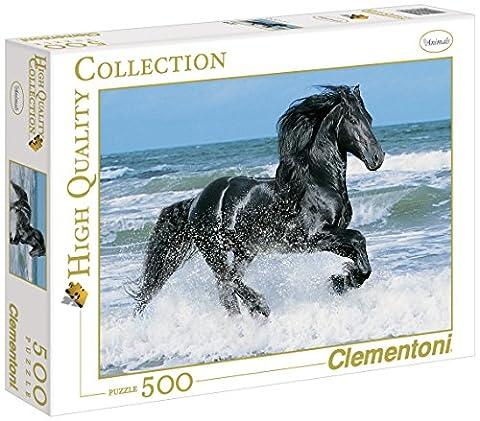 Clementoni - 30175.1 - Puzzle Collection High Quality - 500 Pièces - Cheval Noir