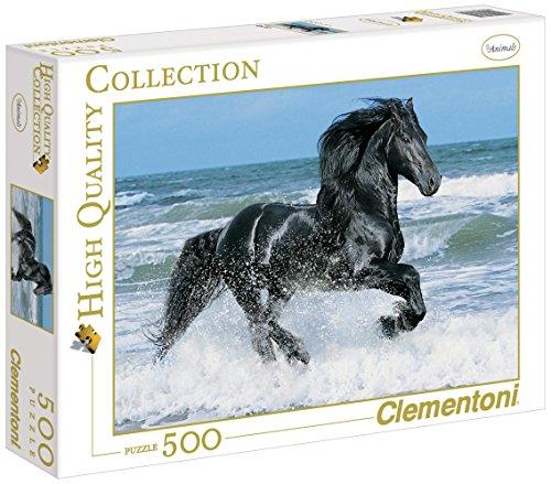 Clementoni - Puzzle de 500 piezas, High Quality, diseño Black Horse (301751)