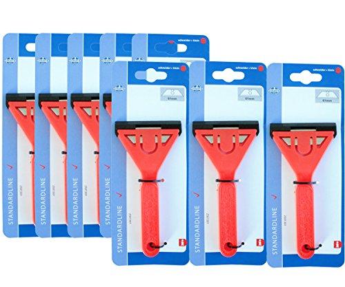 8 Stück Glasschaber Kunststoff inklusive je 1 Klinge 2501301
