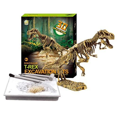 J.AKSO Dinosaurier fossilen Spielzeug Dig Kit, DIY Dinosaurier Puzzle fossilen Spielzeug, Kids Science Education Dinosaurier Assembly Kit, Beste Kind STEM Dinosaurier Spielzeug Geschenk. (T-Rex)