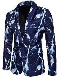 Chaqueta De Traje Clásico Para Hombre Blazer De Boda Impresión Manga Larga Slim  Fit Casual Abrigos ded1debc7ae8