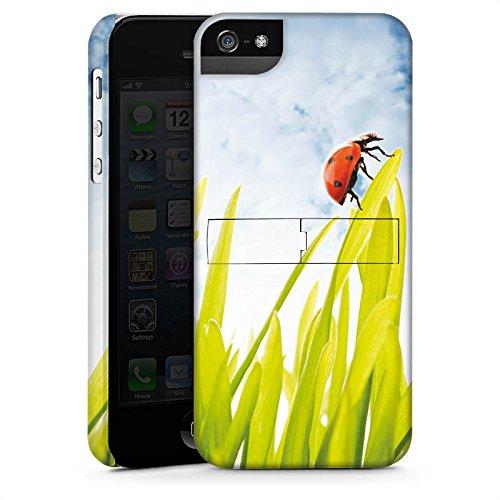 Apple iPhone X Silikon Hülle Case Schutzhülle Grashalm Marienkäfer Himmel Premium Case StandUp