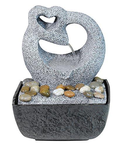 Zimmer-Brunnen Set mit Stromstecker und Pumpe Herz Skulptur (Brunnen Tisch)