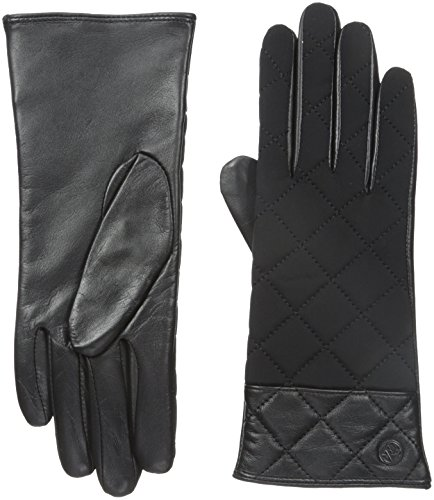 adrienne-vittadini-womens-leather-and-spandex-gloves-with-cashmere-lining-black-small