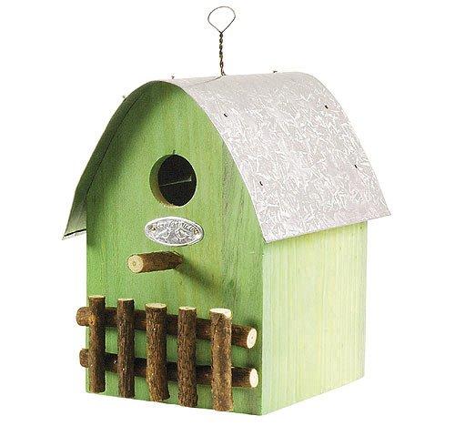 Buntes Vogelhaus Nistkasten Holz Grün 21cm
