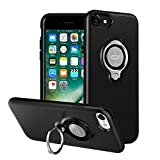 ICONFLANG iPhone 7 Hülle, iPhone 8 Tasche mit Ringständer, 360 Grad drehbarer Ring Grip Case, Dual Layer Stoßfest Schlagschutz für iPhone 8, iPhone 7, Kompatibel mit Magnetic Car Mount