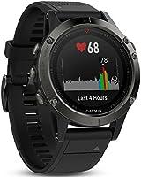 Garmin - Fēnix 5 Gray avec Bracelet Noir - Montre GPS Multisports Outdoor