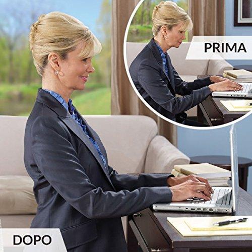 L'originale Royal Posture - Supporta e sostiene! Correggi subito la postura della tua schiena e delle spalle! Nuova fascia supporto posturale per una postura corretta - fascia correttiva terapeutica reggispalle correttivo correttore lombare - per combattere il dolore cervicale, dolori lombari, la schiena inarcata e dolori muscolari - Unisex da uomo e donna - Taglia L/XL