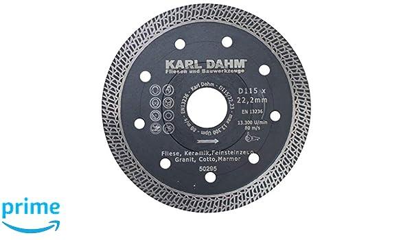 Disco da taglio diamantato 115 x 22,23 mm per pietra naturale Karl Dahm TURBO 50260-115