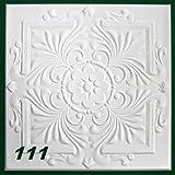 1 m2 Deckenplatten Styroporplatten Stuck Decke Dekor Platten 50x50cm, Nr.111