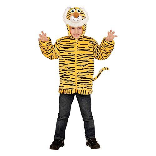 Widmann 97497 - Kinderkostüm Tiger aus Plüsch, Jacke mit Kapuze und Maske (Plüsch Tiger Maske)