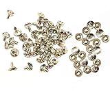 Weddecor 10x 8mm, Farbe: ab, Acryl mit Strass mit Zubehör für Rivet Nieten, Leder, zum Basteln, Designer-Gürtel, Kleidung, Taschen, Hunde-Halsbänder, metall, Ab Colour, 50