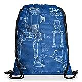 style3 AT-ST Cianotipo Bolsa mochila bolsos unisex gymsac fotocalco azul andador