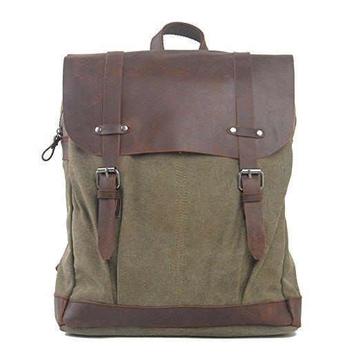 Everdoss Unisexe sac à dos avec couvercle en toile de style rétro sac de l'école cartable sac de l'élèves sac de loisirs