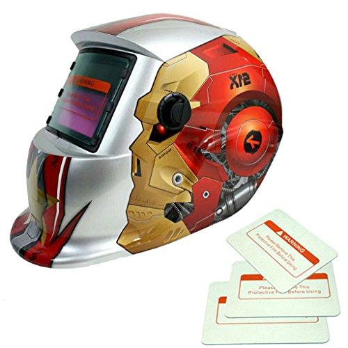 Generic Solar Automatischer Verdunkelung Schweißmaske Helm Maske 10 Muster - Roboter Mann (Mann Roboter)