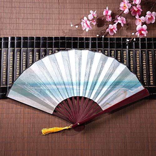 ans romantische Nachricht in Einer Flasche mit Bambusrahmen Quaste Anhänger und Stoffbeutel Japan Hand Fan persönliche Hand Fan japanische Fan Wanddekoration ()