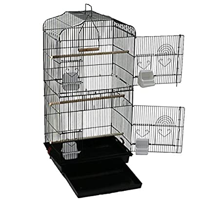 Oypla XL Large Metal Bird Cage Budgie Canary Finch Parrot Birdcage 5